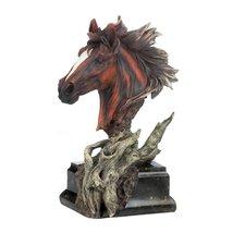 Horse Head Statue, Modern Stallion Horse Sculpture Figurines Brown Head - $26.99