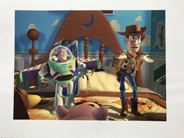 Disneys Toy Story 1996 Litho Art Print Disney Store Exclusive Gold Seal ... - $23.38