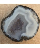 Natural White Agate & Amethyst Cut Geode & Polished  - $45.00