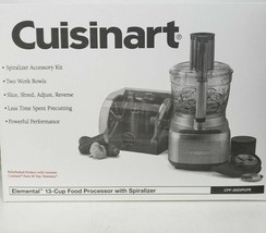 Cuisinart Elemental 13-CUP Food Processor W/SPIRALIZER CFP-26SVPCFR,Refurbished - $145.00