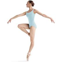 Bloch Dance Women's Faire Microlux Tank Leotard, Pastel Blue, Petite - $20.60