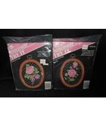 2 PACKS VINTAGE BANAR DESIGNS NEEDLEPOINT CROSS STITCH ROSE / FLOWER IN ... - $14.03