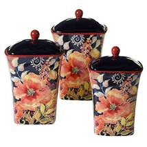 Certified International Watercolor Poppies 3-piece Canister Set - $145.48