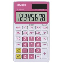 CASIO SL300VCPKSIH Solar Wallet Calculator with 8-Digit Display (Pink) - $23.83