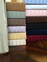 1200 Thread Count Egyptian Cotton 6 PCs Sheet Set All US-Size & Stripe C... - $75.99