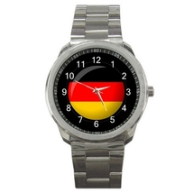 Sport Metal Unisex Watch Highest Quality Flag Germany - $23.99