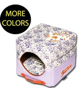 Floral-Galore Reversible Squared 2-in-1 Collapsible Pet Dog House Bed Beds - $52.49