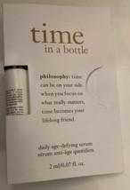 New Philosophy TIME IN A BOTTLE 3 Ml/0.07 Fl. Oz. Daily age defying seru... - $6.93