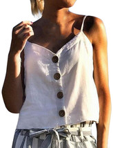 Women's Summer Button Sling Tops Fashion Women's Camisole-in Camis from ... - $6.51