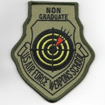 """4"""" Usaf Air Force Wic Weapons School Non Graduate Ocp Embroidered Jacket Patch - $18.99"""