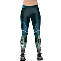 Womens Carolina Panthers Leggings Yoga Pants Womens Sports Jogging Tights - $14.99 - $18.99