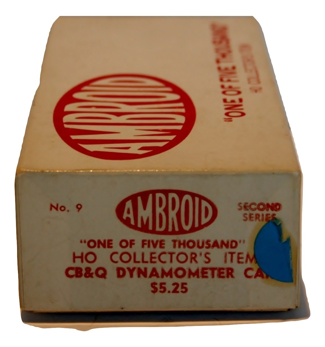 Ambroid One of 5000, HO Collectors Item CB&Q Dynamometer Car, New #9 2nd Series