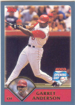 Garrett Anderson ~ 2003 Topps Opening Day #58 ~ Angels - $0.20