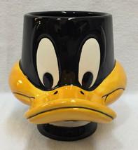 "Daffy Duck Coffee Cup Head Shaped Black & Orange 3D Bill Ceramic NOS 4.5"" - $12.86"