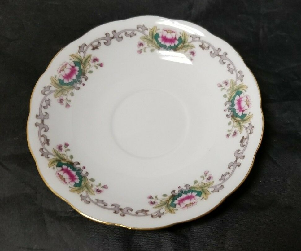 Chinese Fine Bone China Set of 32, 8 Each Soup Bowls, Cups, Saucers, Bread Plate image 5