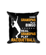 Racquetball pillow - Square Pillow Case w/ stuffing - $23.00