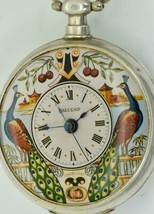 Qing Dynasty Chinese silver& enamel, Mock pendulum automaton Bovet watch - $9,990.00