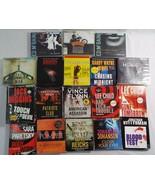 Preowned Mixed Lot of 18 Audio Books Lee Child Robert Harris Ed McBain a... - $43.16