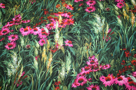 WILD GARDEN FROM MICHAEL MILLER - JUST BEAUTIFUL - 100% COTTON FABRIC   - $7.91