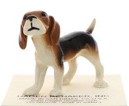 Hagen-Renaker Miniature Ceramic Dog Figurine Beagle and Beagle Pup Set