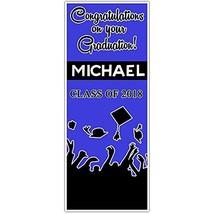 Class of 2018 Graduation Door Banner Decoration Black and Blue Backdrop - £24.38 GBP