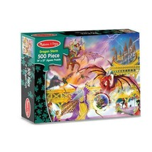 Melissa & Doug 500 Piece Dragon Storm Puzzle Nib - $11.71