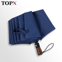 TopX® Retro 10 Ribs Windproof Big Umbrella Rain Women Fully Automatic 3 ... - $29.43