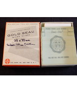 MICROSCOPE SLIDES Vintage GOLD SEAL Micro Slides 38 by 75mm 1.21mm thick - $17.37