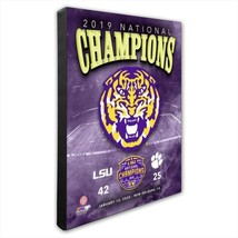 LSU Tigers 2019 Coillege Football Champions - 16x20 Photo on Stretched Canvas - $75.95