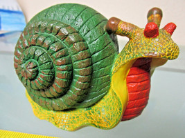 SNAIL FIGURINE, Hand painted, Hollow Cast Plastic Resin - $4.99