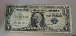 1957B Star Note $1 One Dollar Bill Silver Certificate Note  BLUE SEAL*3... - $2.95