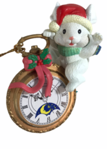 Christmas Traditions Mouse Sleeping on Alarm Clock Collectible Ornament - $11.88