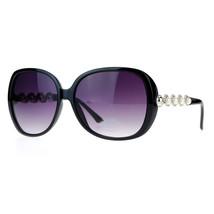 Vintage Pearl Decor Womens Fashion Sunglasses Oversized Square Frame - $9.95