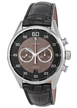 Mens TAG HEUER CARRERA Calibre 36 BLACK GREY CHRONOGRAPH Leather Strap W... - $6,000.00