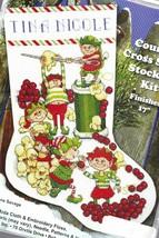 Design Works Popcorn Elves Christmas Holiday Cross Stitch Stocking Kit 5998 - $32.95