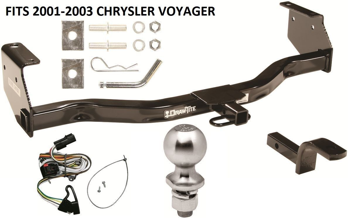 2013 chrysler 200 trailer wiring complete trailer hitch package kg w/ wiring kit fits 2001 ...