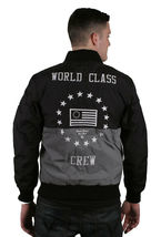 Reason NY Clothing Black & Silver World Class Crew Ripstop Varsity Jacket NWT image 3