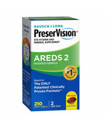 NEW PreserVision AREDS 2 Formula, 210 Soft Gels FREE SHIPPING - $53.99
