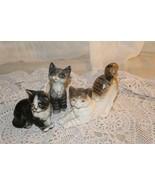 Lot of 3 Vintage Kitty Cat Kitties Inarco Goebel Ucagco Japan Figurines - $49.50