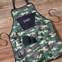 Engraved Camouflage Delux Grilling Apron Set Engraved Gifts Personalized... - $37.88