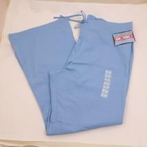 Cherokee Workwear XL Blue 3 Pocket Drawstring & Elastic SCRUBS PANTS Ext... - $10.77