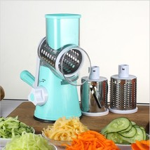 Round Mandoline Slicer Vegetable Cutter Julienne Potato Carrot Grater St... - €17,13 EUR