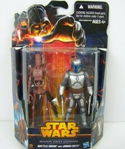Star Wars Mission Series Geonosis Battle Droid Jango Fett Action Figures... - $24.74