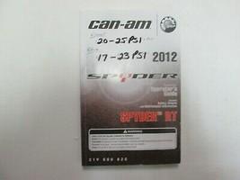 2012 Kann Spyder Rt Roadster Betreiber Führung Manuell 219000820 Fabrik ... - $54.39
