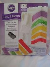 Wilton Easy Layers  6 in Cake Pan Set  5 Pc - $8.59