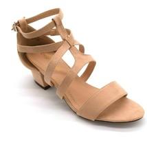 Chase + Chloe Womans Morgan Gladiator Sandal Sz 8 Nude Suede Heel NEW - $25.02