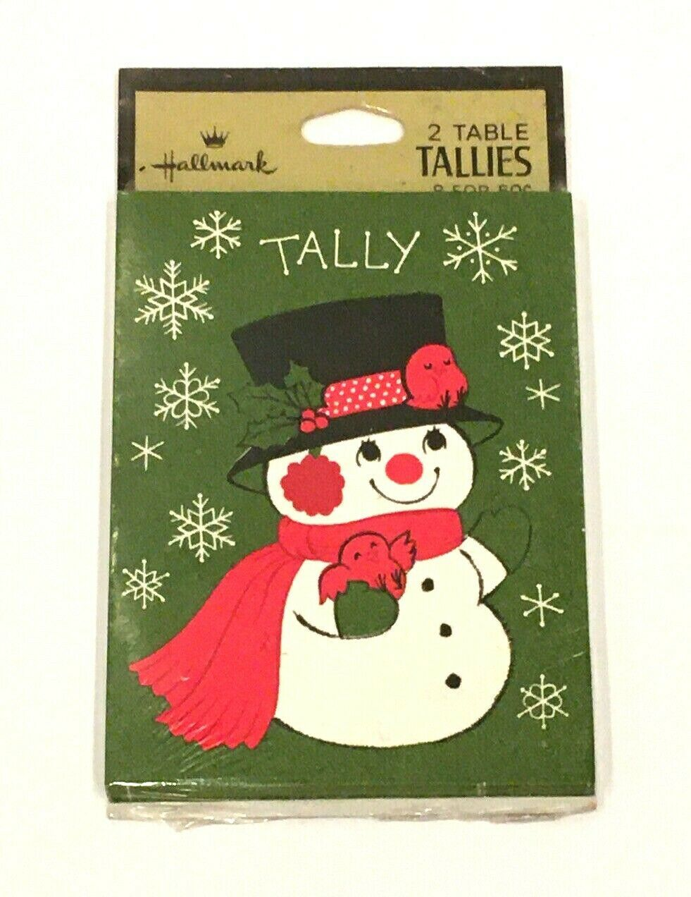 Primary image for Vintage Hallmark 2 Table Tallies Sealed Snowman Holiday Christmas Bridge Cards