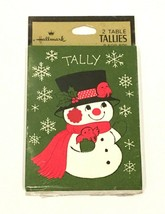 Vintage Hallmark 2 Table Tallies Sealed Snowman Holiday Christmas Bridge... - $16.78