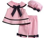 Rare Editions Baby Girls' 3-Piece Pink Dress, Capri & Hat Set,Pink , Size 18M