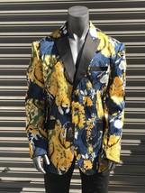 Men's Blue | Yellow | Black Fashion Blazer  - $295.00